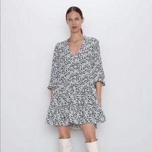 Zara Printed Dress Black/White- Small